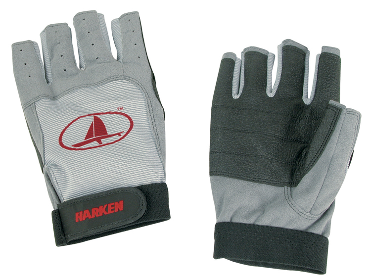 Harken 3/4 Finger Black Magic Gloves