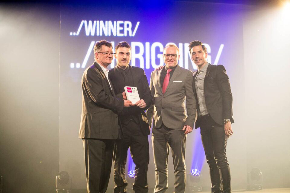 UK Rigging Win TPi Award 'Favourite Rigging Company of the Year' 2015