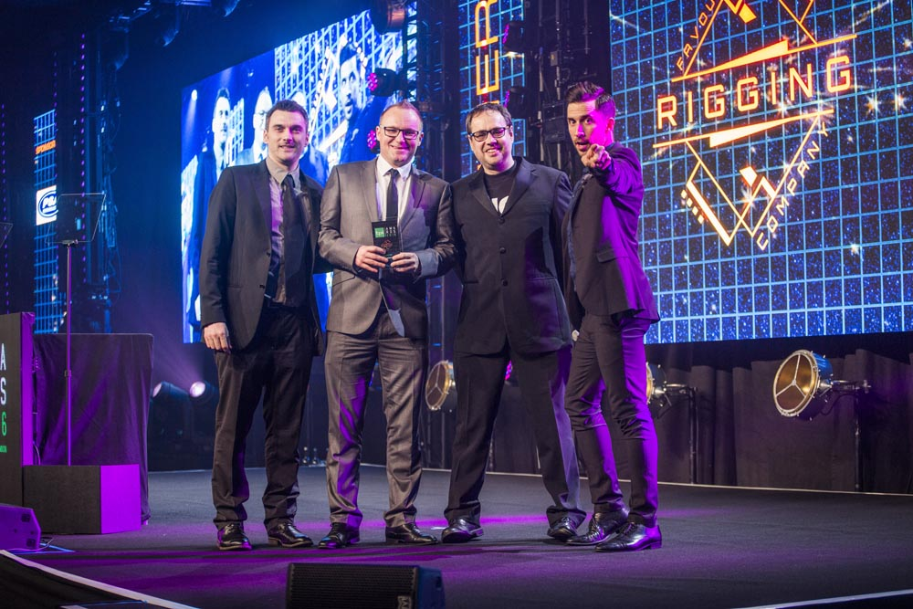 UK Rigging Win TPi Award 'Favourite Rigging Company of the Year' 2016