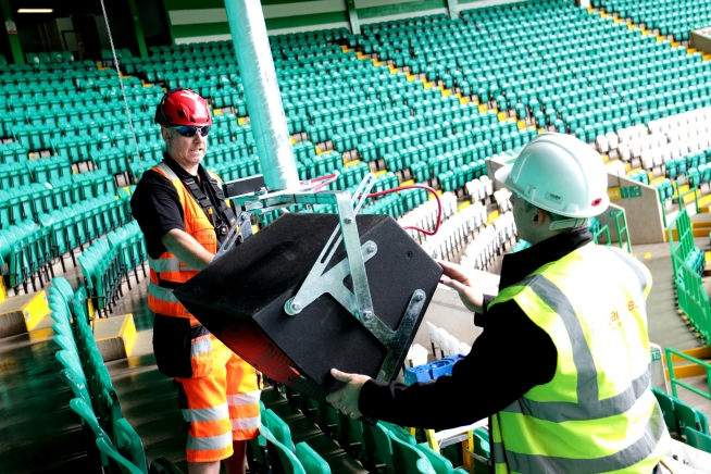 Celtic Park Speaker Installation