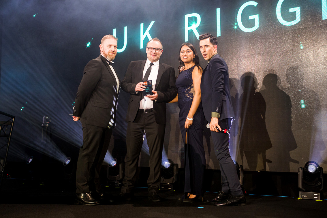 UK Rigging Win TPi Award 'Favourite Rigging Company of the Year' 2017